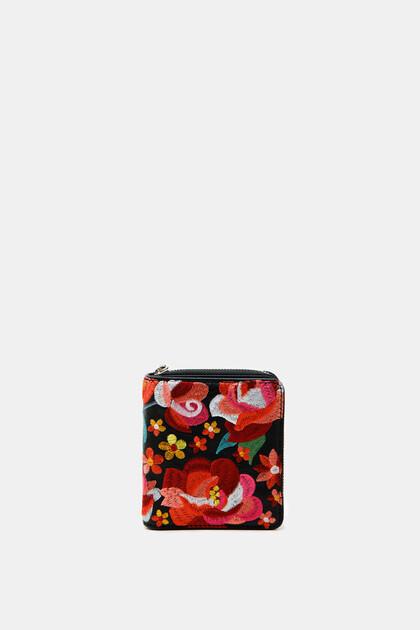 Vierkante mini-portemonnee