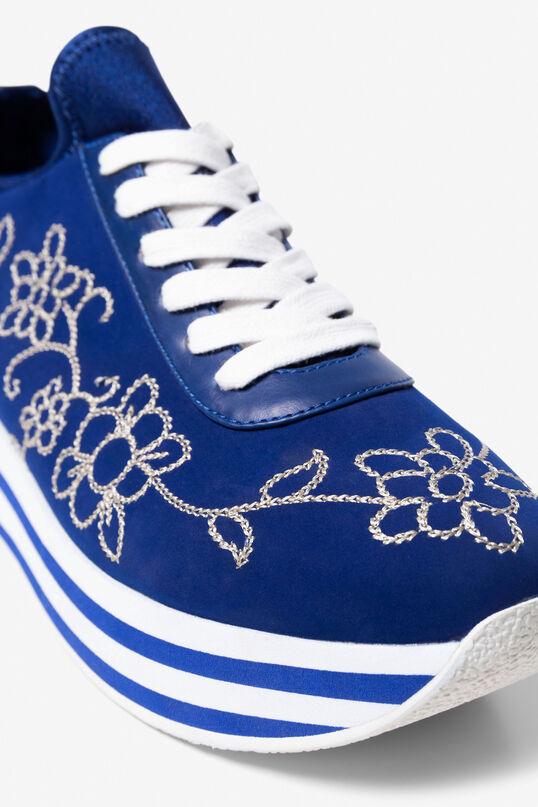 Basket Hydra bleue brodée | Desigual