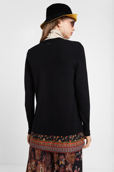 Jumper-cardigan-blouse trompe l'oeil | Desigual