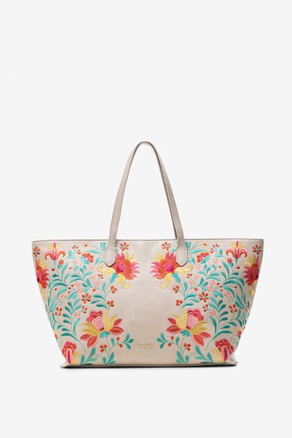Maxi sac imprimé fleuri