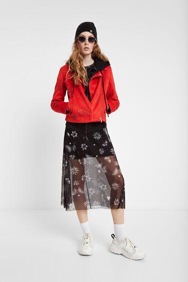 Floral biker jacket   Desigual