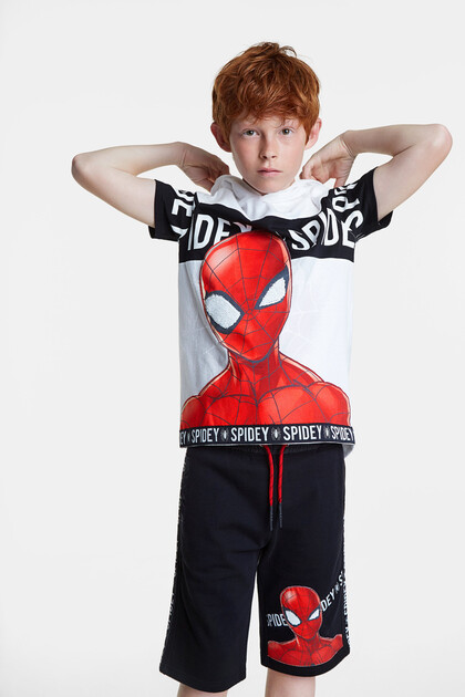 Spiderman T-shirt hood