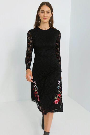 Floral lace dress | Desigual