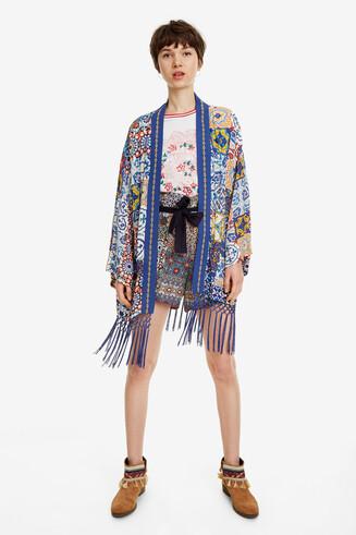 Kimono modernistischem Print Kimo