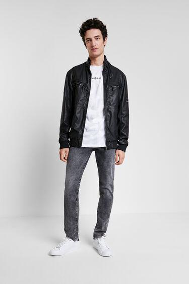 Leather effect biker jacket | Desigual