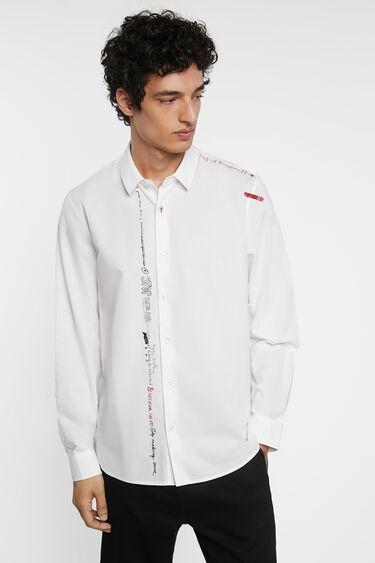 Koszula ze 100% bawełny z napisem | Desigual