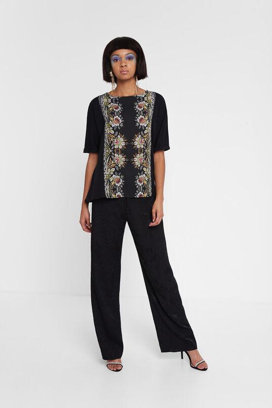 コットンモダール 花柄Tシャツ Designed by M. Christian Lacroix | Desigual