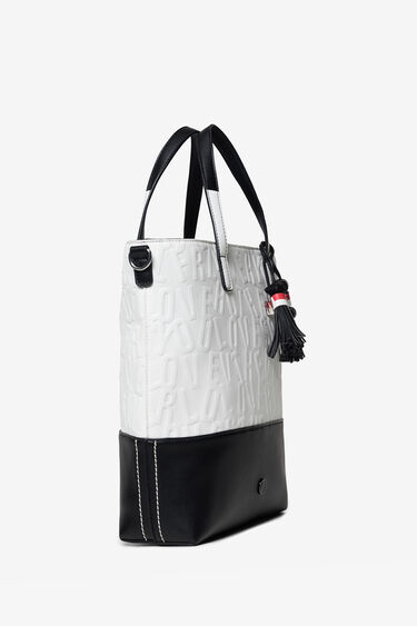 2 in 1 bag with raised lettering | Desigual