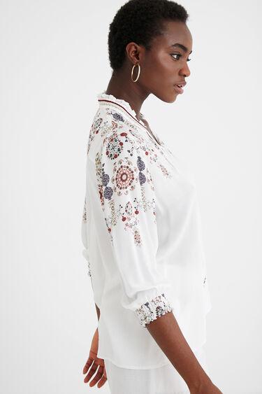 Boho-blouse met pompons | Desigual