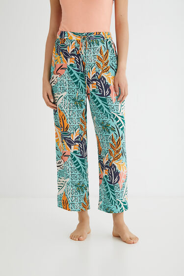 Pantalon long pyjama, viscose | Desigual