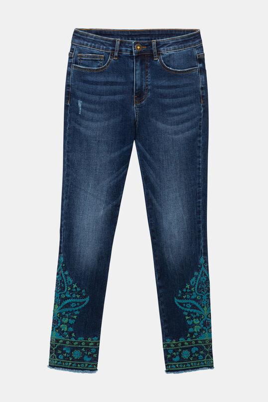 Denim exotic trousers | Desigual