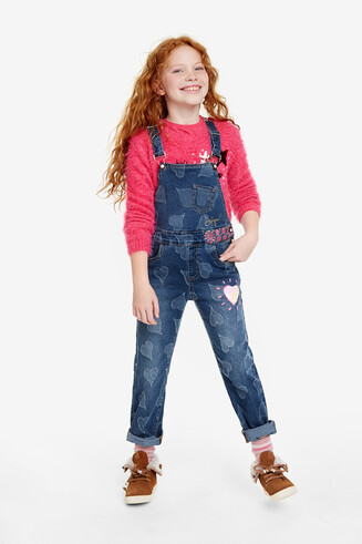 Heart dungarees