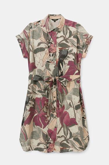 Short safari shirt dress | Desigual