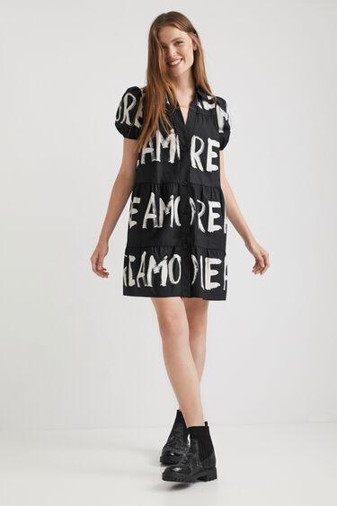 Short cotton shirt dress | Desigual