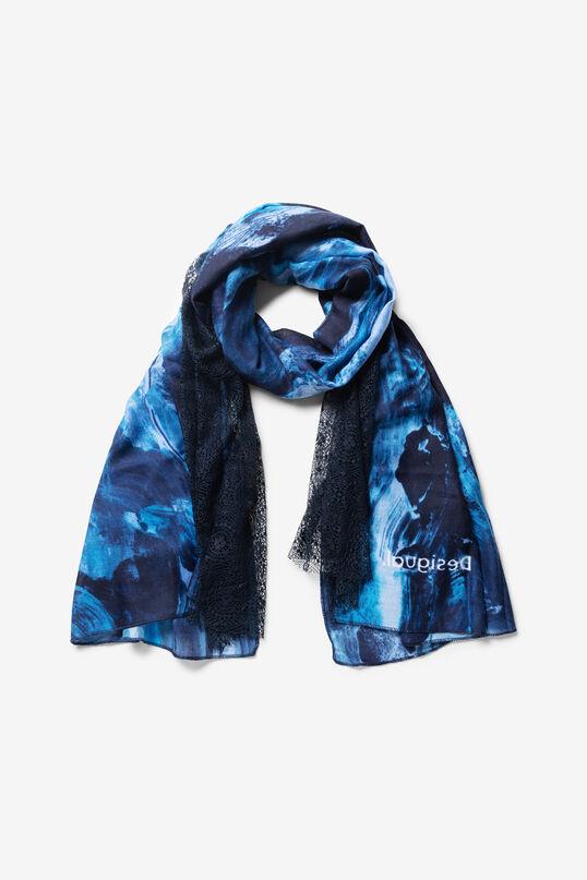 Foulard rectangular azul | Desigual