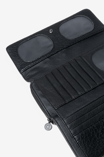 Moneder en logomania patch | Desigual