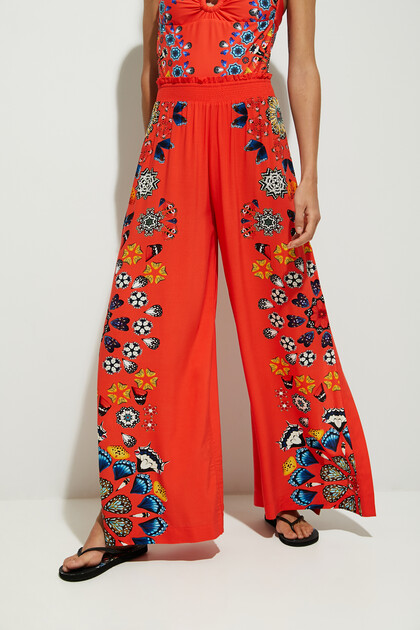 Wide leg trousers mandalas