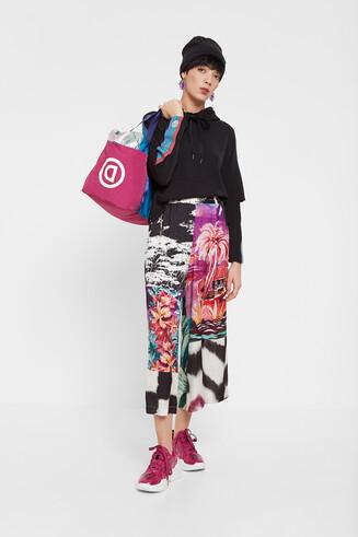 Culottes d'inspiració oriental floral