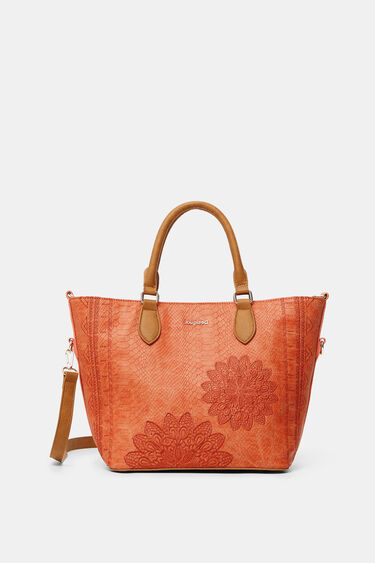 Reptile leather-effect bag | Desigual