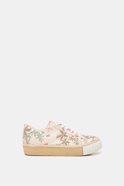 Platform sneakers camoflower