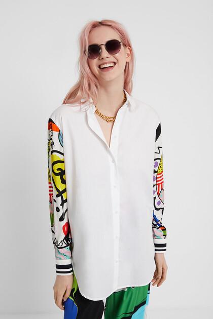 Artistic shirt with fringe