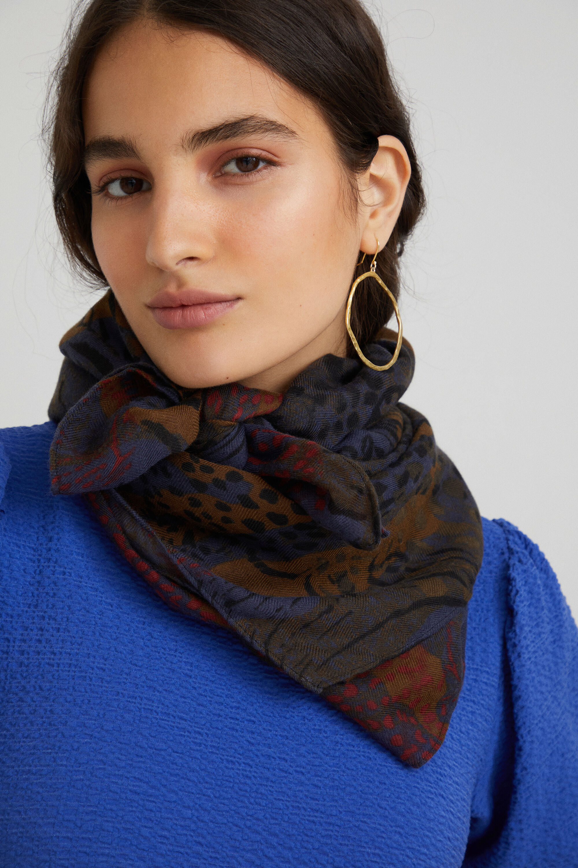 Grand foulard animal print - BLUE - U