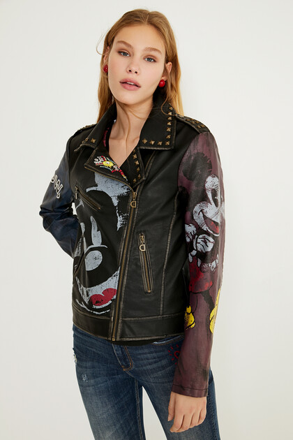 Slim biker jacket Mickey Mouse