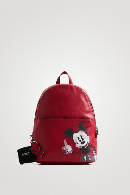 Leather effect backpack