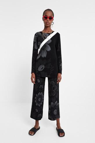 Pullover boho cinturó
