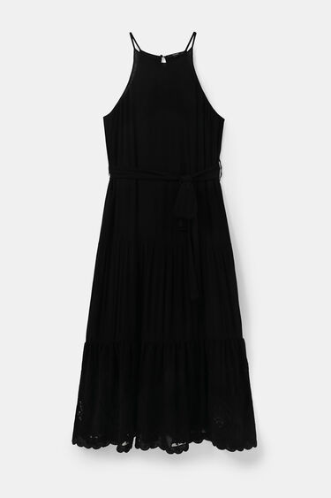 Midi-dress linen halter | Desigual