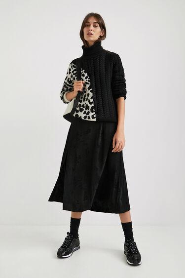 Knit jumper animal print   Desigual