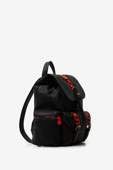 Buckles and message backpack | Desigual