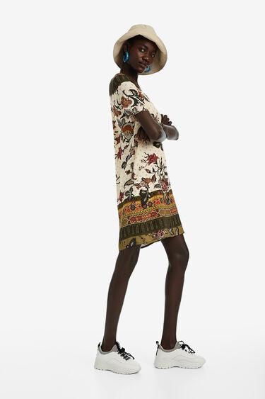 V-neck tunic dress | Desigual