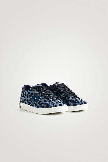 Sneaker street leopardate con glitter   Desigual