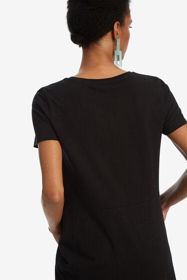 T-shirt lèvres asymétrique | Desigual