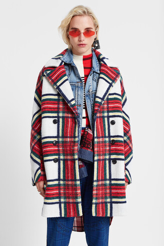 Cloth tartan coat