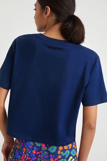 T-Shirt mit Leo-Print 100% Baumwolle   Desigual