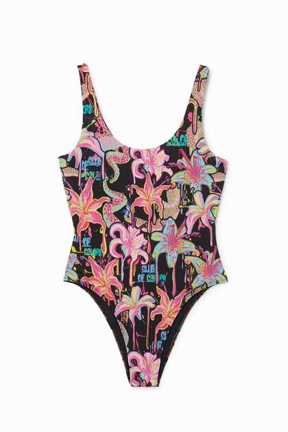 Bodysuit floral print