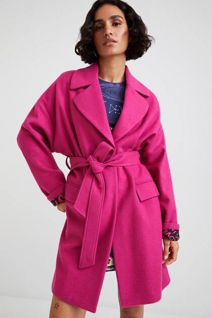 3/4 wool coat belt