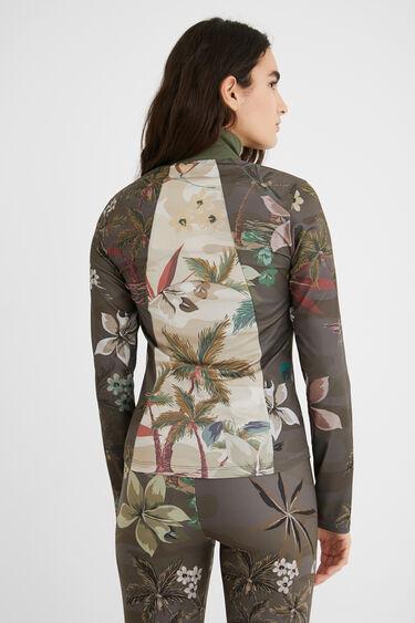 Slim print sport jacket | Desigual