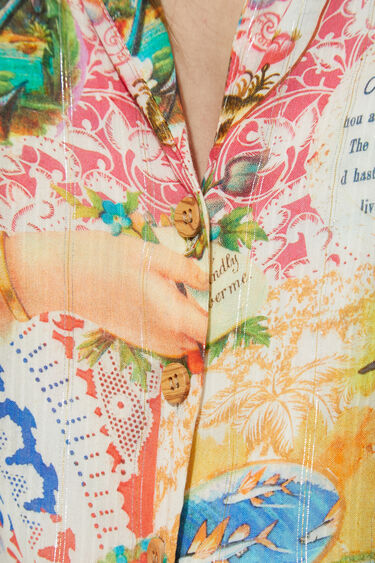 Shirt top knotted Lurex   Desigual