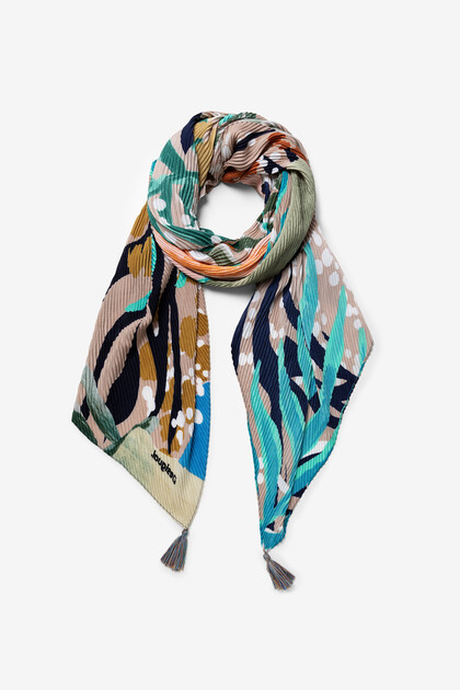 Foulard fleuri tropical