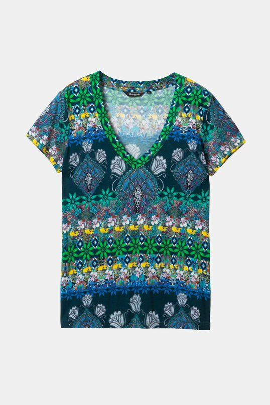 T-shirt col en V boho | Desigual