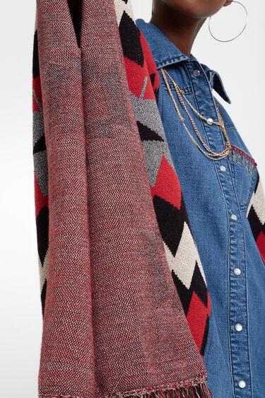 Poncho en jean exotique | Desigual