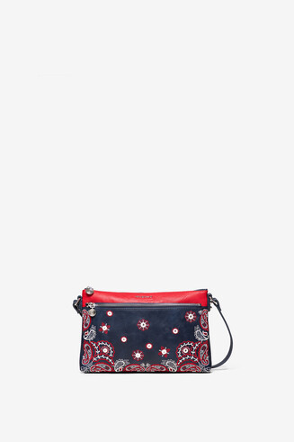 Embroidered paisley bum bag