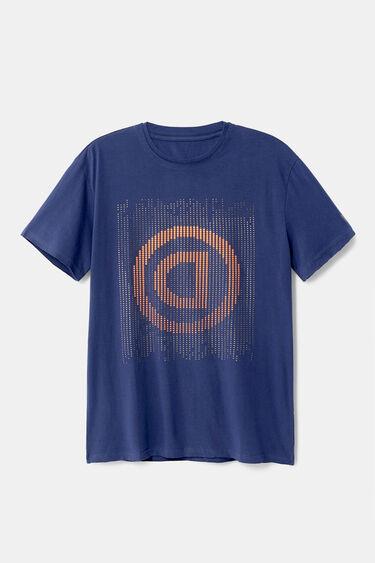 Pointillist T-shirt with logo | Desigual