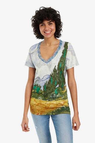 T-shirt with landscape scene Van Gogh
