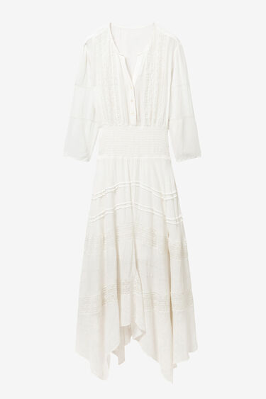 Long broderie anglaise dress | Desigual