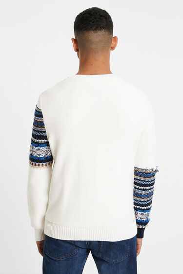 Broken trompe l'oeil tricot sweater | Desigual