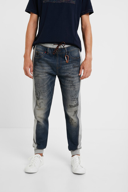 Hybride jeans met bolimania